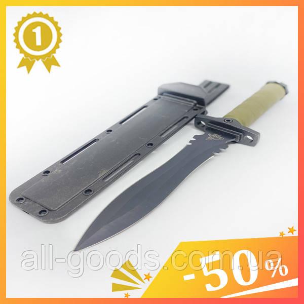 Великий тактичний ніж з чохлом GERBFR 2338В (35см). Двосторонній ніж мисливський, рибальський, туристичний.
