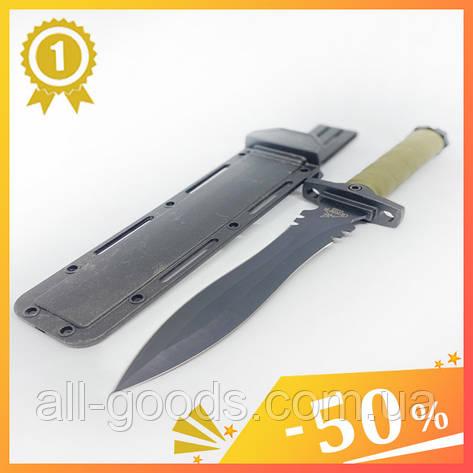 Великий тактичний ніж з чохлом GERBFR 2338В (35см). Двосторонній ніж мисливський, рибальський, туристичний., фото 2