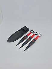 Набір метальних ножів Метальний ніж Ножі для метання Професійні метальні ножі 3шт А АК-345 15 см, фото 2