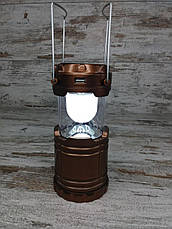 Кемпинговый складной фонарь G-85 в комплекте с охотничьим ножом Colunbia КА3188, туристический фонарик с ножом, фото 3