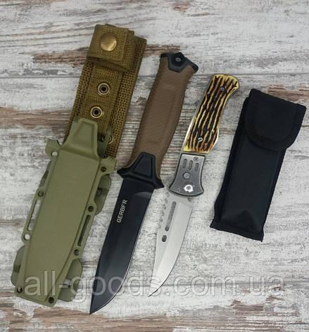 Тактический нож Gerber АК-207 в комплекте с универсальным выкидным ножом АК-29 / 21 см, фото 2
