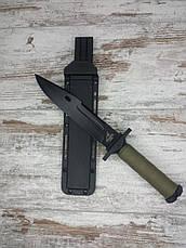 Тактичний ніж з чохлом GERBFR 2368В (35см) в комплекті з універсальним викидних ножем АК-29/21 см, фото 3