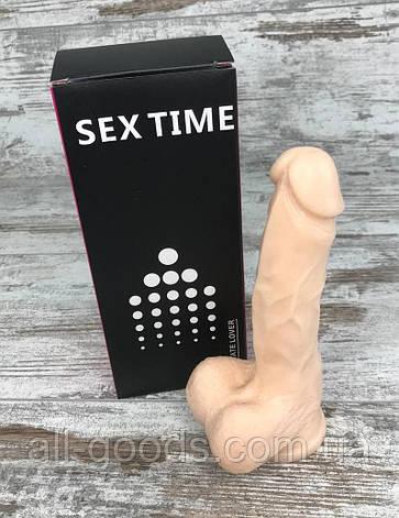 Фалоімітатор Реалістичний силіконовий фалоімітатор дилдо Фаллоимитатор на присоске Секс іграшка 17х4, фото 2