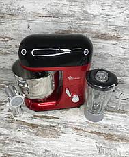 Универсальный кухонный комбайн мясорубка и измельчитель Domotec MS-2051 3000W 4в1 Кухонная машина и комбайн, фото 3