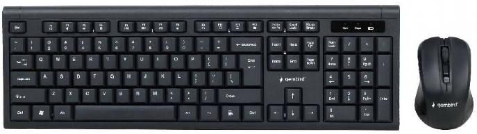 Бездротова Bluetooth клавіатура + миша Gembird KBS-WM-03-UA (USB, мультимедійний) Black, фото 2