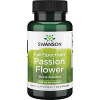 Пасифлора, Swanson, Passion Flower, 500 мг, 60 капсул