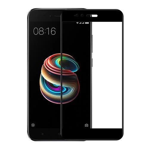 Защитное cтекло для  Xiaomi Mi А1 каленное стекло с рамкой Черный