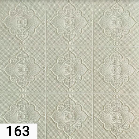 3Д панелі стельові самоклеючі, 3D панелі декоративні для обробки стелі, Білий 700х700 мм
