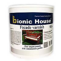 Лак акриловий для дерева на водній основі для зовнішніх робіт (0,8 л) Bionic House (Біоніка Хаус)