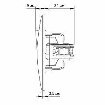Одноклавішний вимикач проміжний VIDEX BINERA вбудований білий VF-BNSW1I-W, фото 3