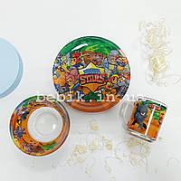 Подарочный набор детской посуды из стекла