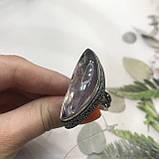 Кільце з аметрином 17,3 + - розмір безрозмірне аметрин кільце в сріблі регульоване. Індія, фото 7