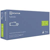 Перчатки нитровиниловые MERCATOR Hybrid+ неопудренные, размер S, 100 шт