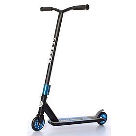 Дитячий трюковий самокат (PU колеса 110 мм, руль86см, алюм+сталь) iTrike SR 2-067-2-BBL Чорно-синій