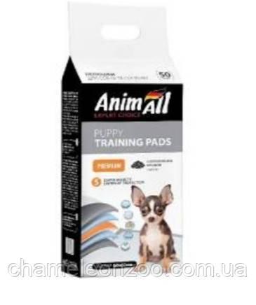 Пеленки для собак AnimAll 60х60 см с активированным углем 50 шт