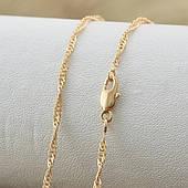 Коротка ланцюжок з медичного золота, розмір 35см*1,5 мм