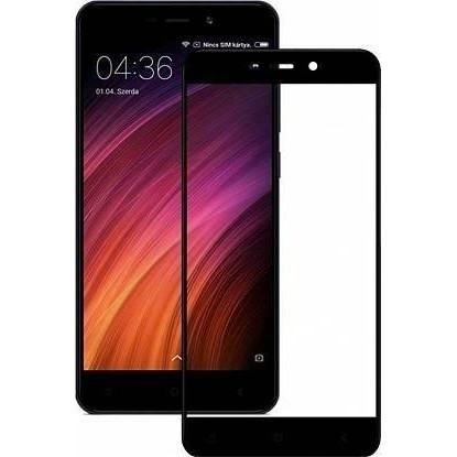 Захисне скло для Xiaomi Redmi 4A захищає екран від відколів Чорний