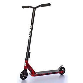 Дитячий трюковий самокат (PU колеса 110 мм, руль86см, алюм+сталь) iTrike SR 2-067-3-WP2 Чорно-червоний