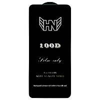 Защитное стекло 100D для Xiaomi Redmi Note 9 Pro черное (на сяоми редми нот 9 про, ксиоми ноут 9 про ксяоми)