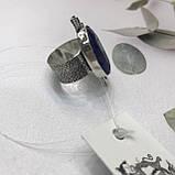 Сапфір кільце 18 розмір кільце з каменем натуральний сапфір в сріблі кільце з сапфіром., фото 4