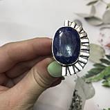 Сапфір кільце 18 розмір кільце з каменем натуральний сапфір в сріблі кільце з сапфіром., фото 2
