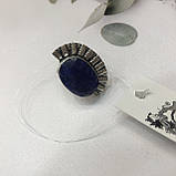 Сапфір кільце 18 розмір кільце з каменем натуральний сапфір в сріблі кільце з сапфіром., фото 5
