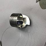 Сапфір кільце 18 розмір кільце з каменем натуральний сапфір в сріблі кільце з сапфіром., фото 7