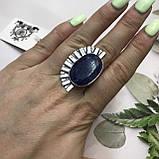 Сапфір кільце 18 розмір кільце з каменем натуральний сапфір в сріблі кільце з сапфіром., фото 3