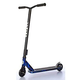 Дитячий трюковий самокат (PU колеса 110 мм, руль86см, алюм+сталь) iTrike SR 2-067-3-WP4 Чорно-синій