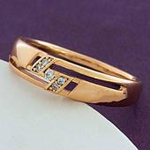 Жіноча каблучка з медичного золота Xuping. Розмір 18,19
