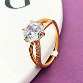 Женское кольцо из медицинского золота Xuping. Размер 18