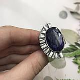 Сапфир кольцо 18 размер кольцо с камнем натуральный сапфир в серебре кольцо с сапфиром., фото 8