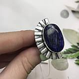 Сапфир кольцо 18 размер кольцо с камнем натуральный сапфир в серебре кольцо с сапфиром., фото 5