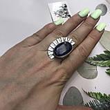 Сапфир кольцо 18 размер кольцо с камнем натуральный сапфир в серебре кольцо с сапфиром., фото 3