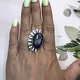 Сапфир кольцо 18 размер кольцо с камнем натуральный сапфир в серебре кольцо с сапфиром., фото 2