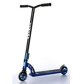 Дитячий трюковий самокат (PU колеса 110 мм, руль85,5см, алюм+сталь) iTrike SR 2-065-2-BL Синій