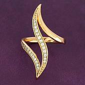 Размер 21. Женское кольцо из медицинского золота Xuping. Ювелирная бижутерия