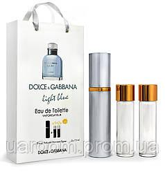 Мини-парфюм мужской Dolce&Gabbana Light Blue, 3х15 мл
