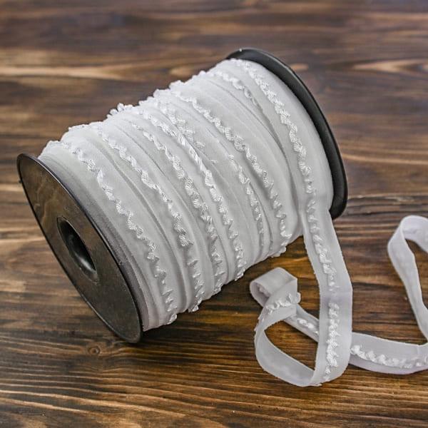 Резинка ажурная бельевая белая, 15 мм  V