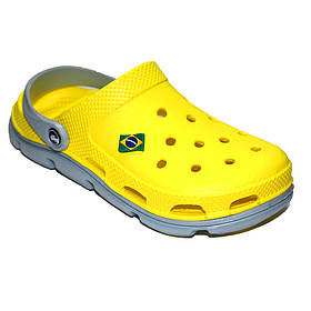 Мужские кроксы сабо желтого цвета