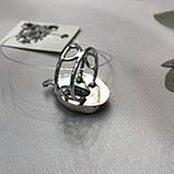 Сапфир кольцо 19,2 размер кольцо с камнем индийский натуральный сапфир в серебре кольцо с сапфиром., фото 6