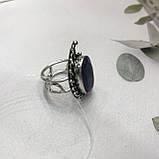 Сапфир кольцо 19,2 размер кольцо с камнем индийский натуральный сапфир в серебре кольцо с сапфиром., фото 7