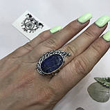 Сапфир кольцо 19,2 размер кольцо с камнем индийский натуральный сапфир в серебре кольцо с сапфиром., фото 2