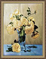 Гобеленова Картина Букет квітів 500х700мм. (в багетній рамці) №G332