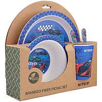 Набір посуд з бамбуку Racing, 5 предметів, KITE