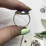 Сапфір кільце Маркіз 19,2 розмір кільце з каменем індійський натуральний сапфір в сріблі кільце з сапфіром., фото 6