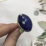 Сапфір кільце Маркіз 19,2 розмір кільце з каменем індійський натуральний сапфір в сріблі кільце з сапфіром., фото 3