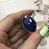Сапфір кільце Маркіз 19,2 розмір кільце з каменем індійський натуральний сапфір в сріблі кільце з сапфіром., фото 5