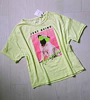 Красивая , в стиле oversaze футболка Next для девочкиc пайетками 12 лет