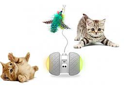 Sundy Игрушка для котов домашних питомцев USB smart машинка BENTOPAL-P03 со сменными игрушками-кисточками
